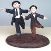 Laurel and Hardy Figures based on still photos from one of their movies.